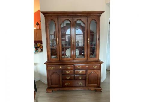 Dinning table and china cabinet