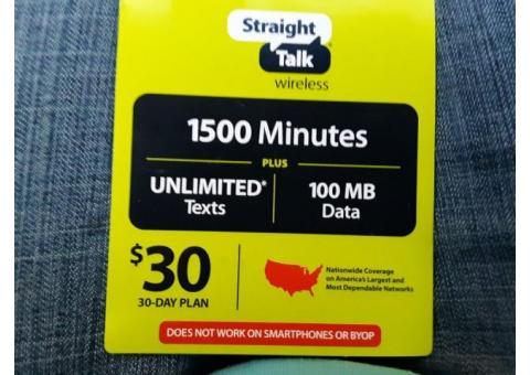 Straight Talk Card